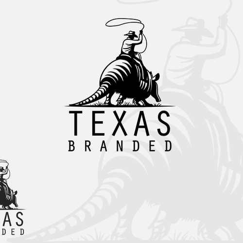 Riding logo with the title 'Classic logo for a Texas themed retail company.'