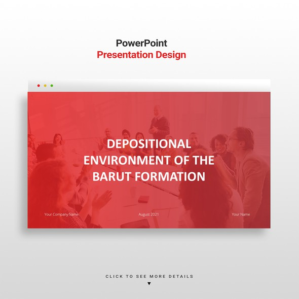 Deck design with the title 'Marketing Powerpoint Template'