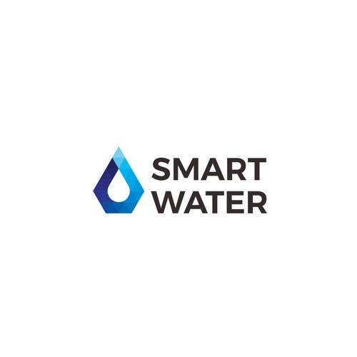 Meaningful logo with the title 'Pseudo-gradient logo for water conference: Smart Water'