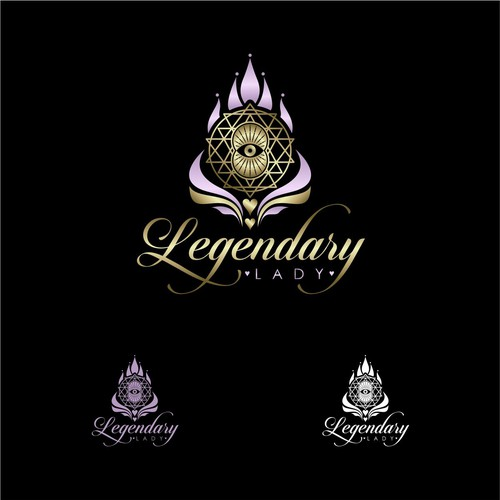 Pen tool logo with the title 'Legendary Lady'