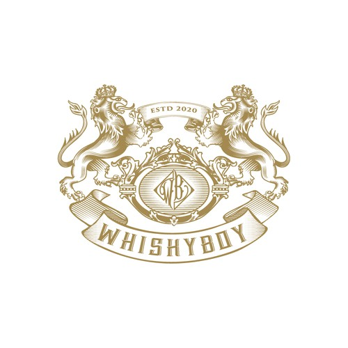 Lion design with the title 'WHISKYBOY'