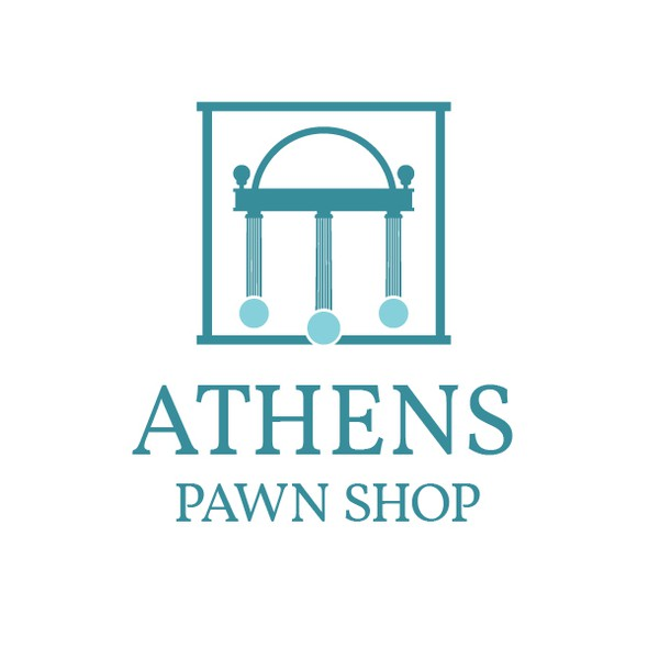 Georgia logo with the title 'Bold logo for a Pawn Shop in Athens'