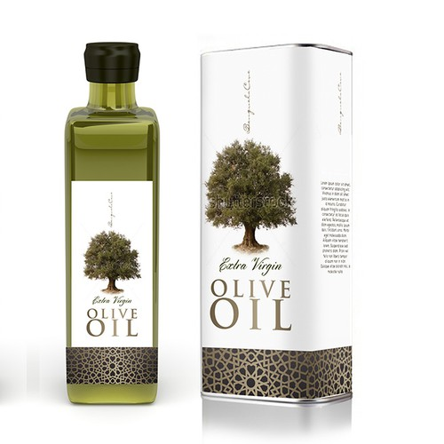 Olive oil label with the title 'Premium Olive Oil Label'