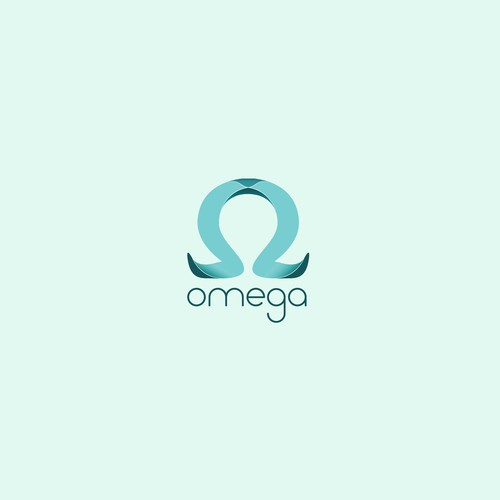 Omega design with the title 'Logo from greek letter OMEGA'