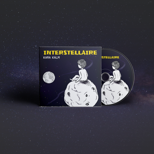 Handmade artwork with the title 'Interstellaire album cover'