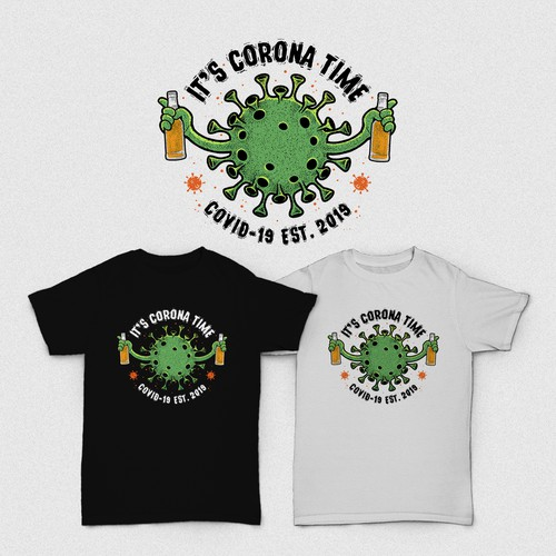 Beer t-shirt with the title 'It's Corona Time'