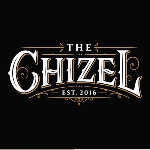 Corporate identity logo with the title 'Logo for The Chizel'