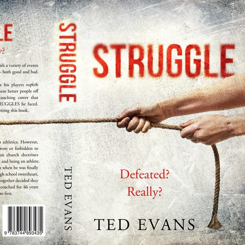 Religious design with the title 'Struggle - An Autobiography'