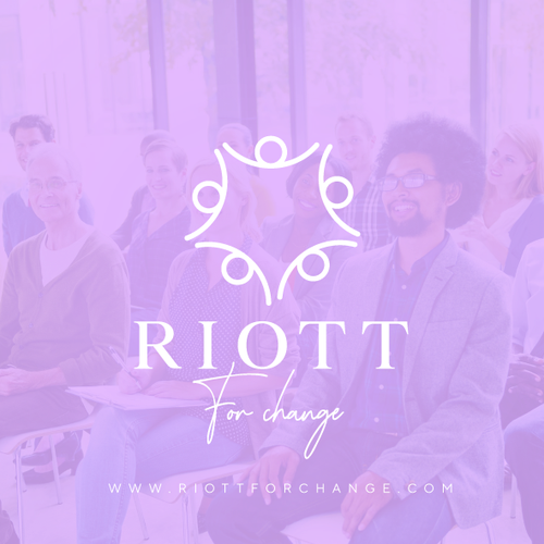 Change design with the title 'RIOTT FOR CHANGE'