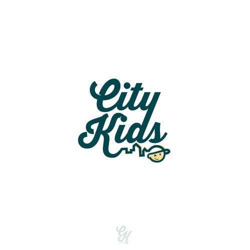 Skyline logo with the title 'Hip Logo for City Kids'