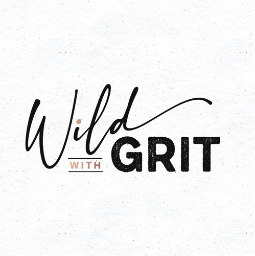 Feminine logo with the title 'Wild with grit'