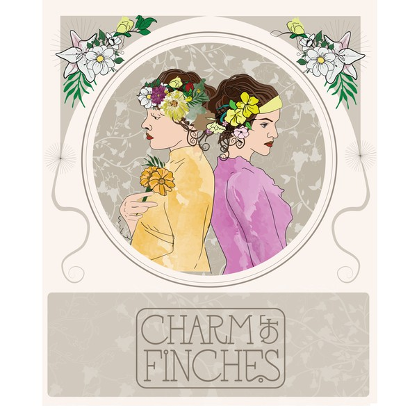 Women artwork with the title 'Art Deco style illustration'