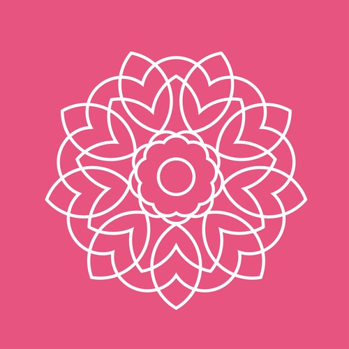 White and pink design with the title ' SI Icon'