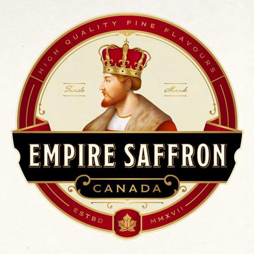 Gatsby logo with the title 'EMPIRE SAFFRON LOGO DESIGN'