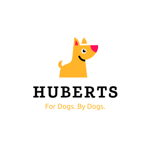 Dog and cat logo with the title 'huberts'