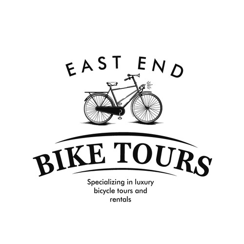 Tour design with the title 'East End Bike Tours'