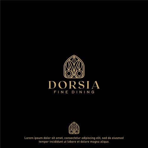 Classic logo with the title 'Logo for Dorsia Fine Dining'