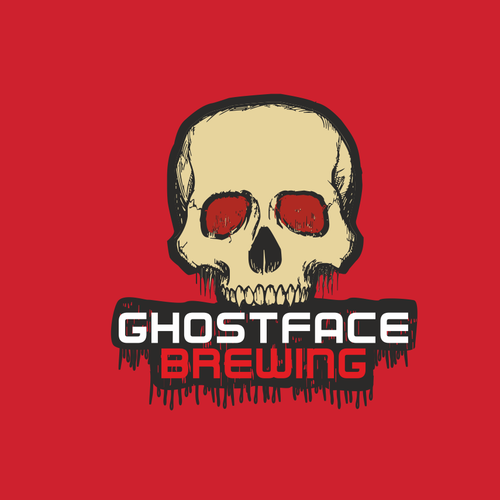 Scary logo with the title 'GhostFace Brewing'