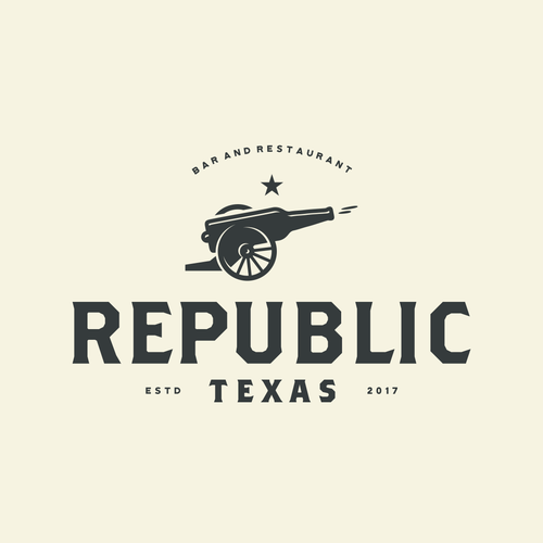 Bar and restaurant logo with the title 'Design a logo or brand mark for Republic, the newest attraction to the Dallas restaurant scene'