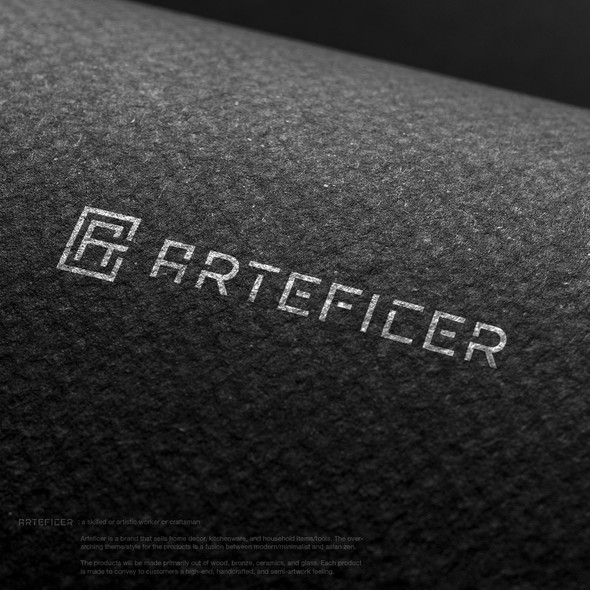Craftsman design with the title 'Clever monogram for Arteficer'