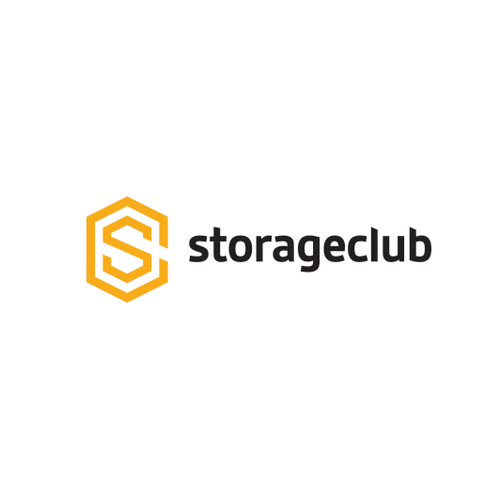 Warehouse design with the title 'Bold logo for modern, App user, storage business solution.'