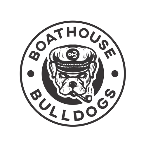 Bulldog logo with the title 'Boathouse Bulldogs'