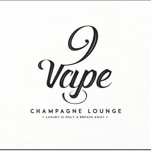 Lounge design with the title 'Logo-Luxury Limited Edition E-cigarette and Champagne Lounge in Asia'