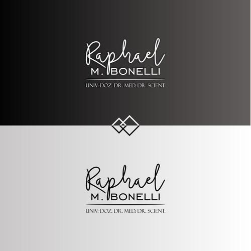 Scientist logo with the title 'Conceptual Logo for Raphael M. Bonelli'