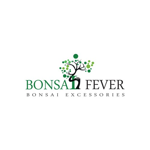 Bonsai design with the title 'Bonsai Fever '