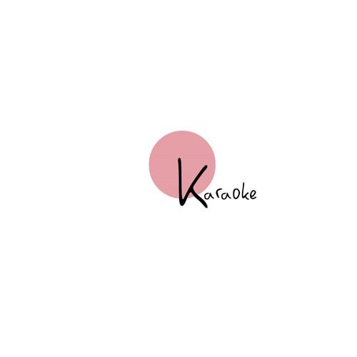 Karaoke design with the title 'OK Karaoke logo proposal.'