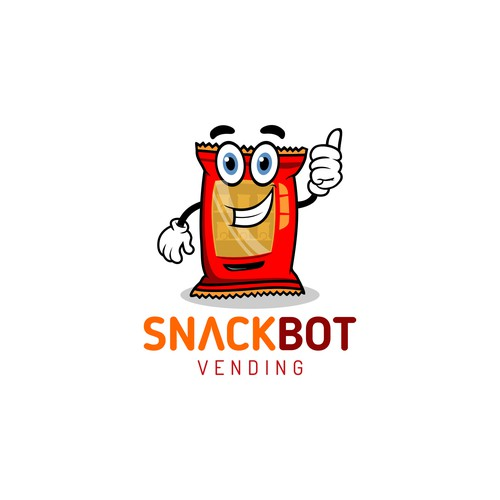 Vending logo with the title 'Logo for snack vending machines'