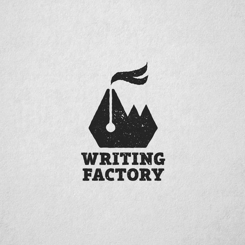 Texture design with the title 'Creative logo for Writing Factory'