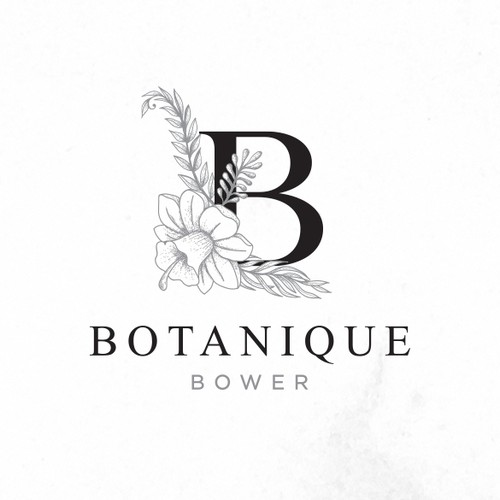Rose brand with the title 'create a botanical inspired logo for a stylish plant/florist retail store'