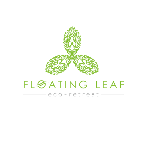 Abstract art logo with the title 'New Logo To Capture the Essence of Bali Floating Leaf'