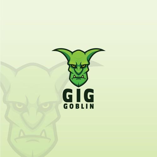 Monster logo with the title 'Gig Goblin Logo'