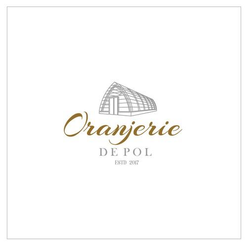 Village logo with the title 'Oranjerie de Pol'