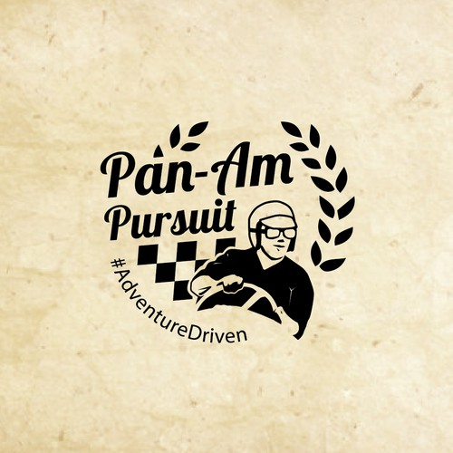 Race car logo with the title 'Vintage logo for PAN-AM'