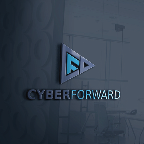 "Forward design with the title 'Logo for cyber security company ""Cyber Forward""'"