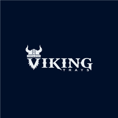 Beard logo with the title 'Viking - Logo for a company that sell aluminium ute trays'