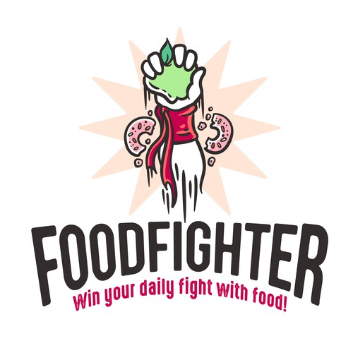 Fist logo with the title 'Foodfighter'