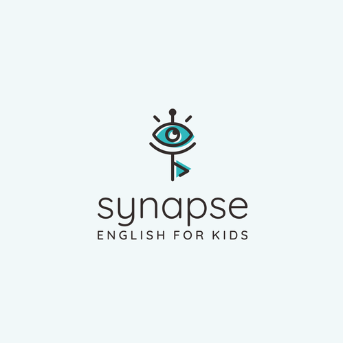 Language school logo with the title 'Cheerful logo for English education company: Synapse'