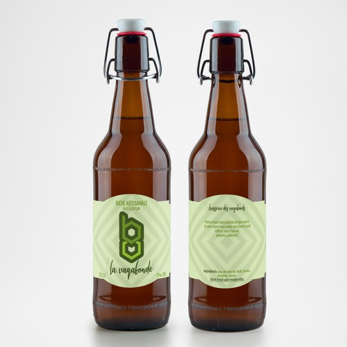 Hipster label with the title 'Minimal label for craft beer'