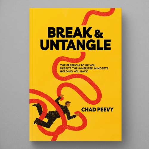Mindfulness design with the title 'Book cover design - Break & Untangle'
