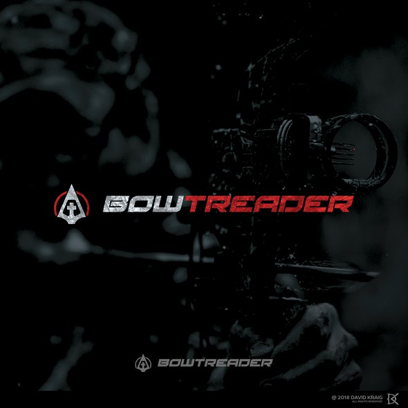 Hunting logo with the title 'BowTreader'