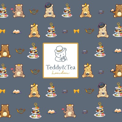Teddy and Tea pattern