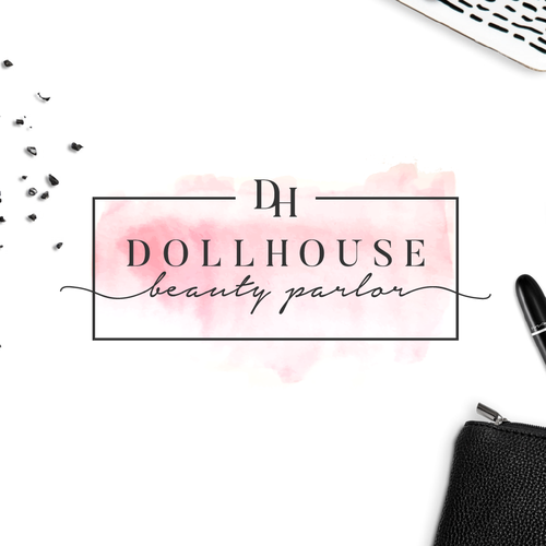 Woman design with the title 'Feminine and luxurious logo and website for a beauty salon.'