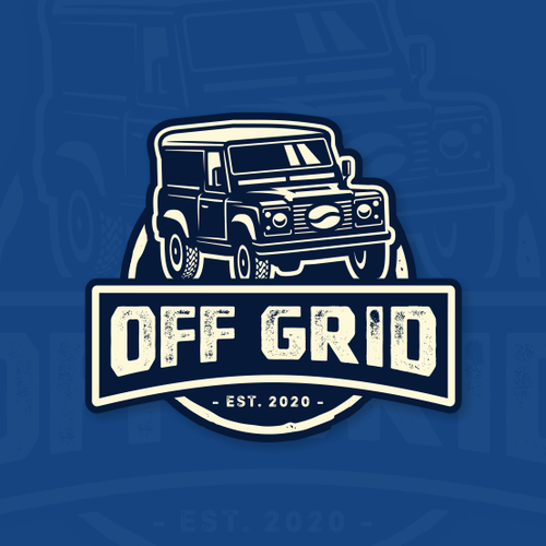 Off-road design with the title 'Logo proposal for Off Grid.'