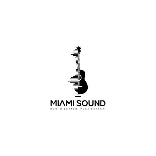 Guitar brand with the title 'miami sound'
