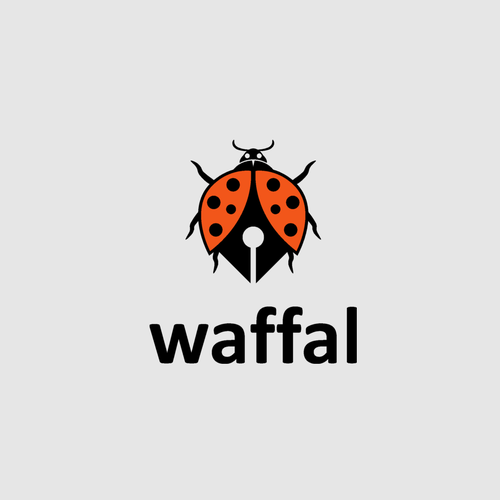 Bug logo with the title 'waffal'