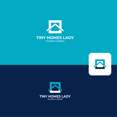 Tiny design with the title 'Female Tiny Homes Builder & Catchy Logo'